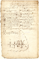 Image. Indian deed to Lubbertus van Dincklage, attorney of Henrick van der Capelle tho Ryssel, for the whole of Staten island, page 3