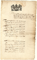 Image. List of children sent from the almshouse to New Netherland