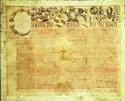 Duke of York's Charter from his brother King Charles II, granting him the colony of New York, 1664.
