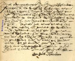 Bill of lading for fifty horses loaded at Aruba for New Netherland, May 18 1660