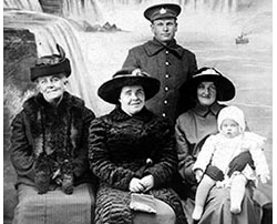 WWI Cecil Johnson, Canadian army, with his family