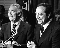 Governor Hugh Carey and running mate Mario Cuomo, June 13 1978