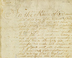 Will of William Tom, of New Castle 1687