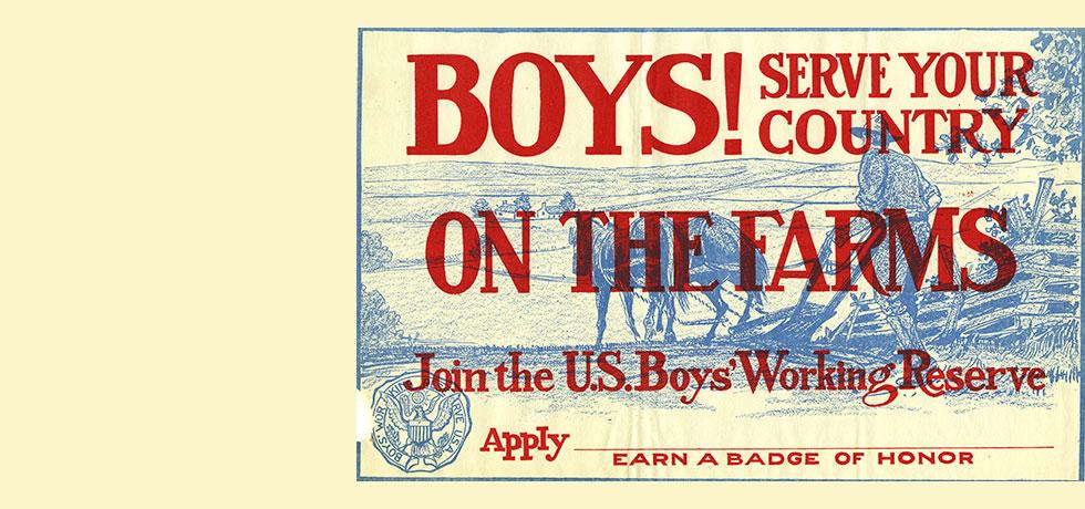 Image. Recruiting poster for the New York Farm Cadets program