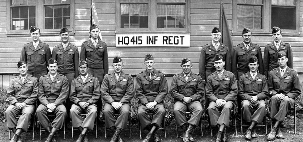 Image. Hugh Carey and the 415th Infantry
