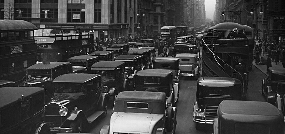 Image. Traffic on Fifth Avenue