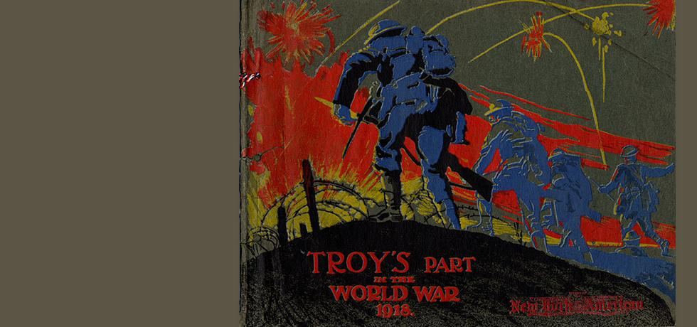 "Image. Cover of ""Troy's Part in the World War 1918"""