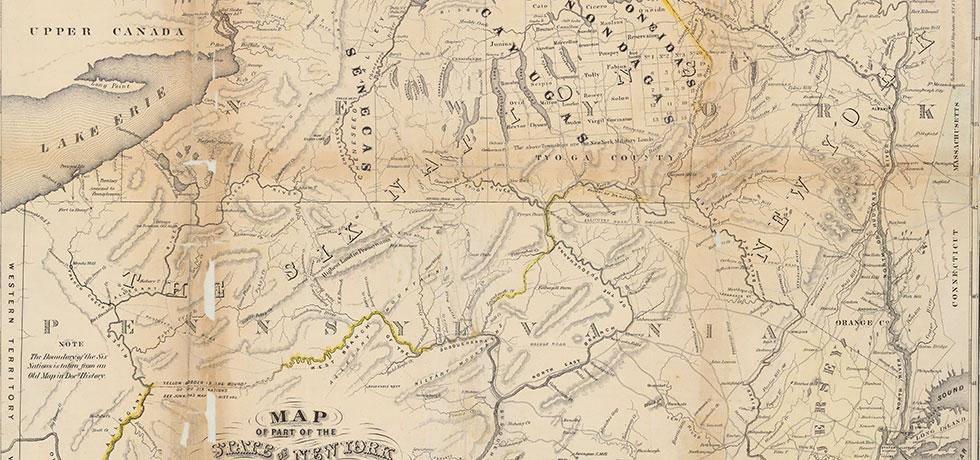 Image. Map of part of the State of New York with parts of the adjacent states, 1793-1794