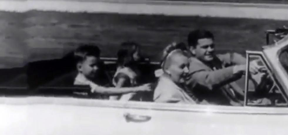 Image. Screenshot from the film The Thruway and Binghamton Tomorrow, 1951