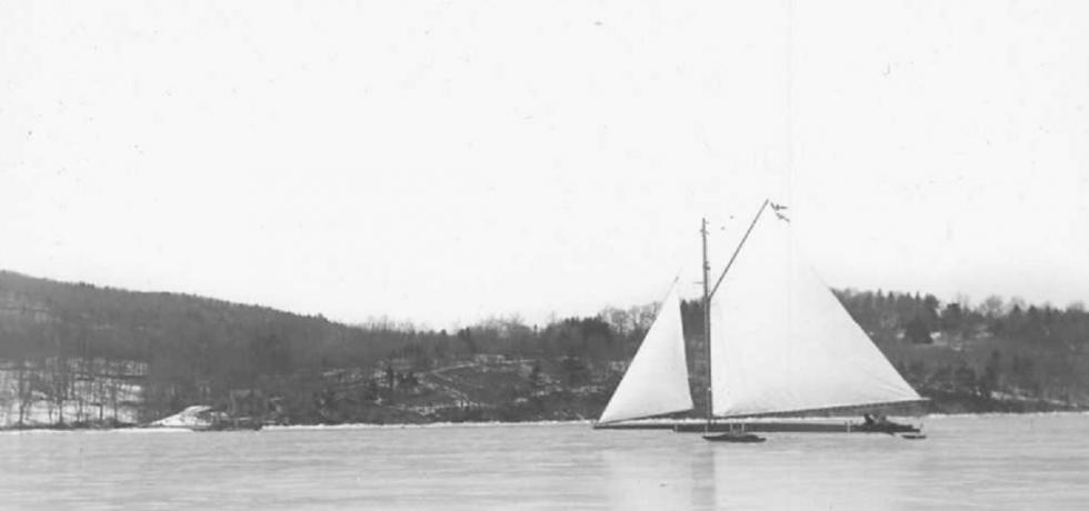 Iceboat on the Hudson River