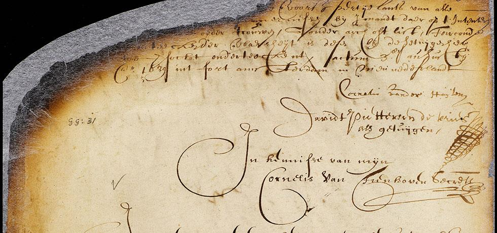 Image. Indian deed for a tract of land called Kekesick, August 3 1639
