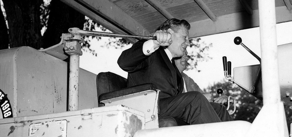 Image. Governor Nelson A. Rockefeller at groundbreaking, Saratoga Performing Arts Center, 1971