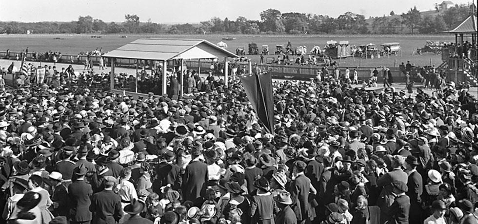 Governor Charles Whitman making address at the Dutchess County Fair, 1915