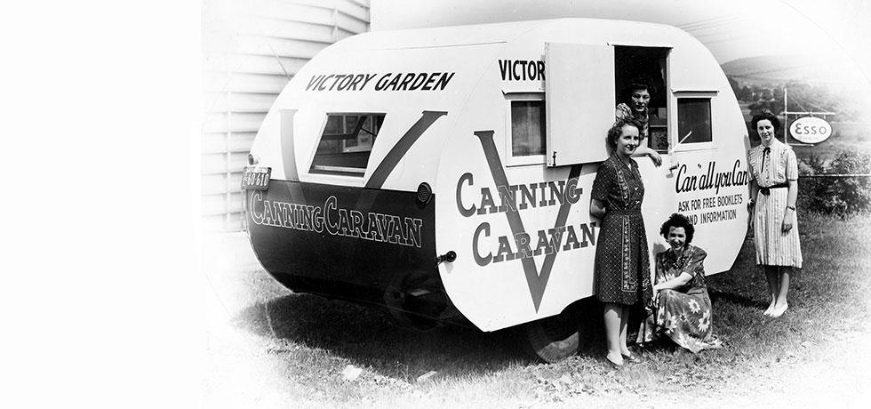 Image. Broome County, Victory Canning Caravan, 1940s