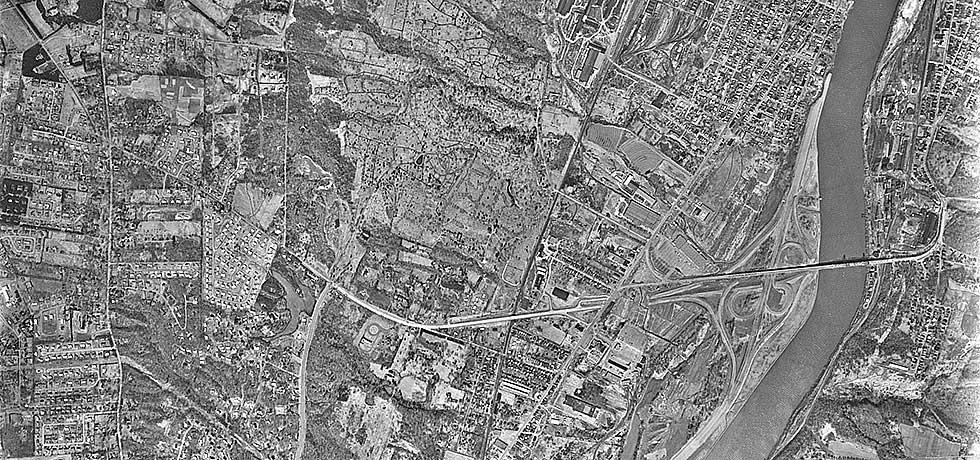 Aerial photograph of Troy South USGS quadrangle, March 26, 1968