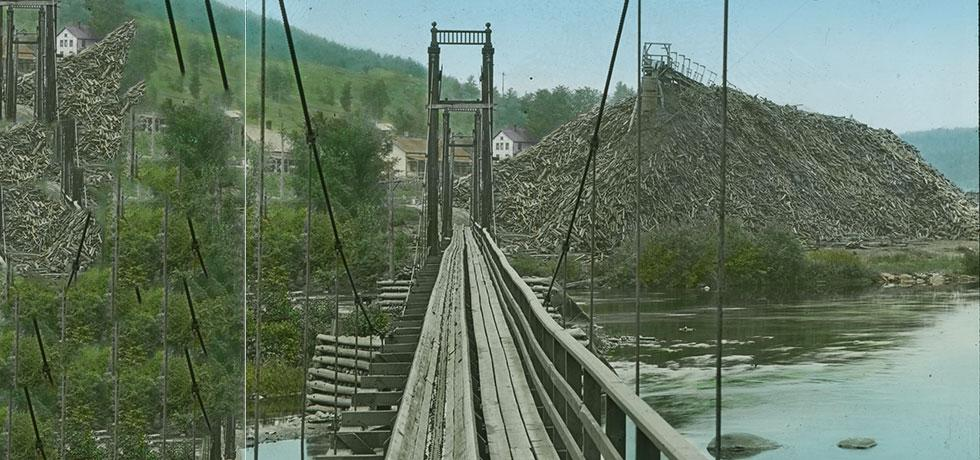 Pulp and Wood Conveyor over the Ausable River, 1912