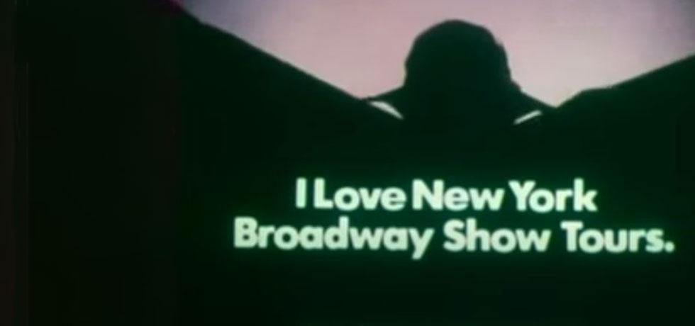 """Screenshot from the commercial """"I Love New York"""" - Broadway, 1980s"""