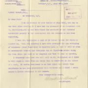 Letter - Edward M. Burns to W. W. Durant