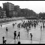 Wading Pool in Children's Playground and Park, Chrystie-Forsythe Park, New York City