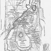Native Americans. Map of Onondaga Reservation.