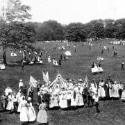 New York City. Central Park Outing of School Children.