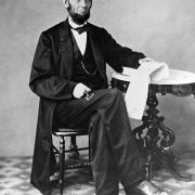 Abraham Lincoln. Full Figure Seated Photograph