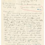 Letter from Mary A. Young to NYS War Council, Committee on Discrimination in Employment