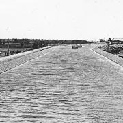 Barge Canal. Typical Section of Completed Canal