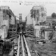 Erie Canal. Construction of Lock 5