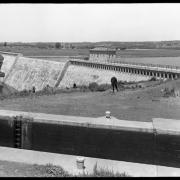 Barge Canal. Delta Dam and Reservoir