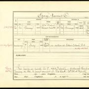 Abstract of muster roll, James C. Spry