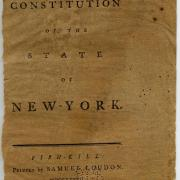 Printed copy of New York State Constitution of 1777